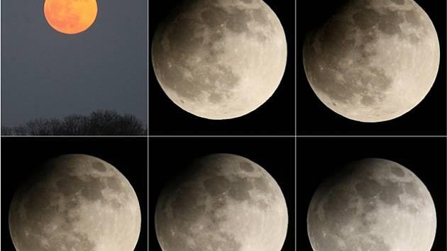 Částečné zatmění Měsíce.