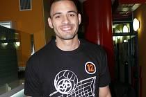 Brazilec Daniel de Souza na prvním tréninku Jihostroje