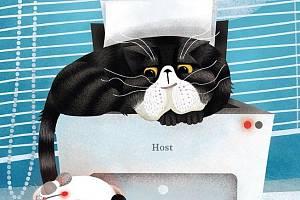Knížka Flouk a Líla vypráví pohádku z mrakodrapu. Zkamarádí se v ní počítačová myš a kouzelný kocour.