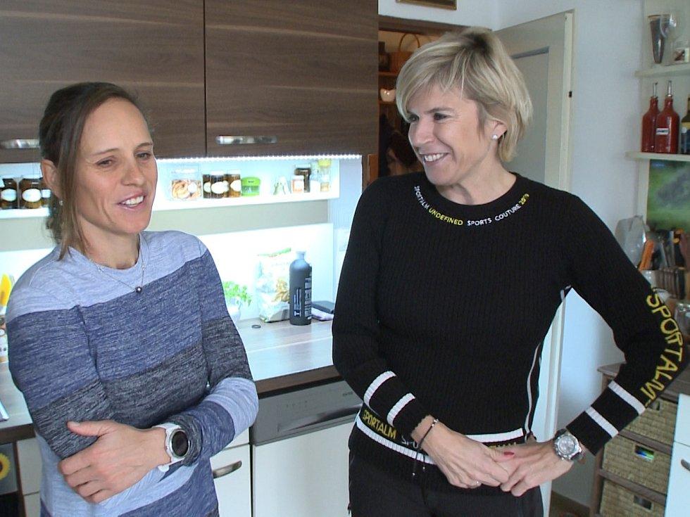Kateřina Neumannová s Kateřinou Nash
