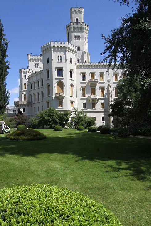 Na zámku Hluboká nad Vltavou je pohádkově.