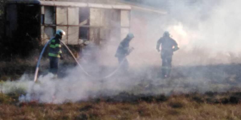 Požár Branišovského lesa.