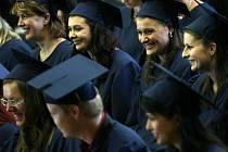 Slavnostní promoce absolventů magisterského studia ekonomické fakulty Jihočeské univerzity.