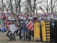 Tradiční rekonstrukce bitvy u Sudoměře. Ilustrační foto