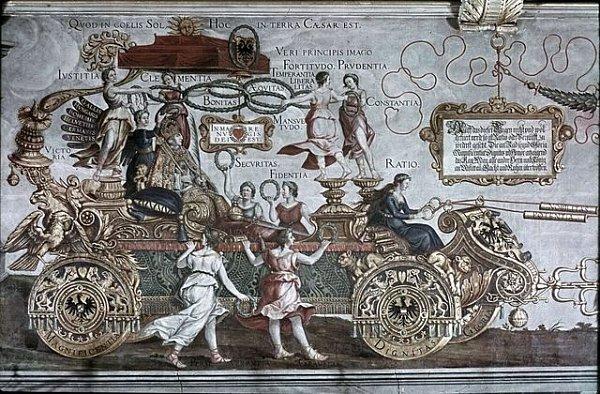 Dürer - triumfální vůz císaře Maximiliána I.