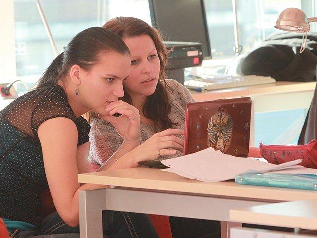 Ilustrační snímek z Akademické knihovny Jihočeské univerzity.