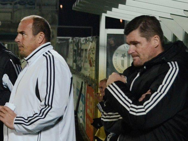 Juniory Dynama na jaře povede Pavol Švantner (vpravo spolu s Jiřím Lerchem).