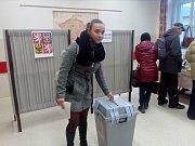 Volby v okrsku číslo 1 v Českých Budějovicích.