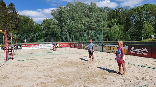 Areál beachových sportů vyhledávají sportovci z celého Jihočeského kraje.