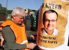 Demonstrace zemědělců na Českobudějovicku