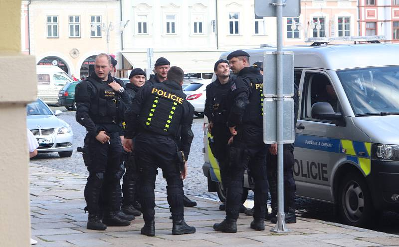 Fanoušci Slavie v Českých Budějovicích.