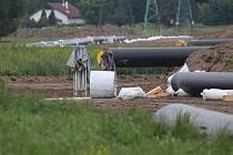 Stavba teplovodu z Temelína dorazila již na kraj Českých Budějovic.