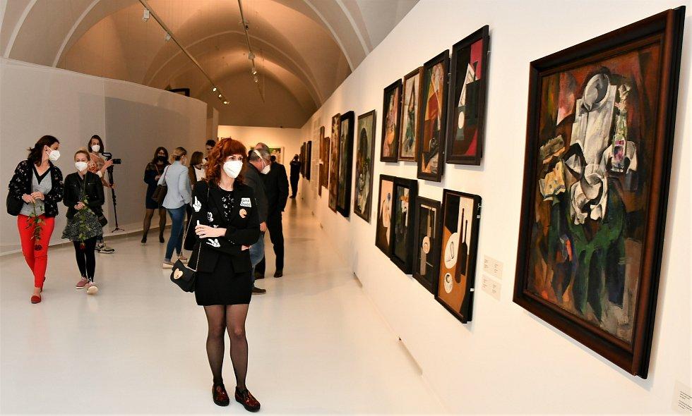 Vernisáž výstavy Malevič-Rodčenko-Kandinskij a ruská avantgarda v Alšově jihočeské galerii.
