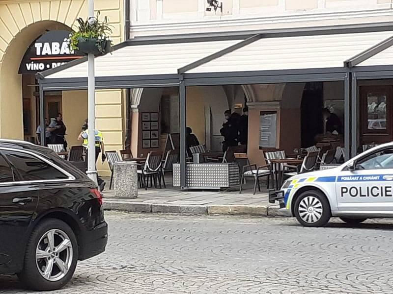 Zásah na českobudějovickém náměstí.