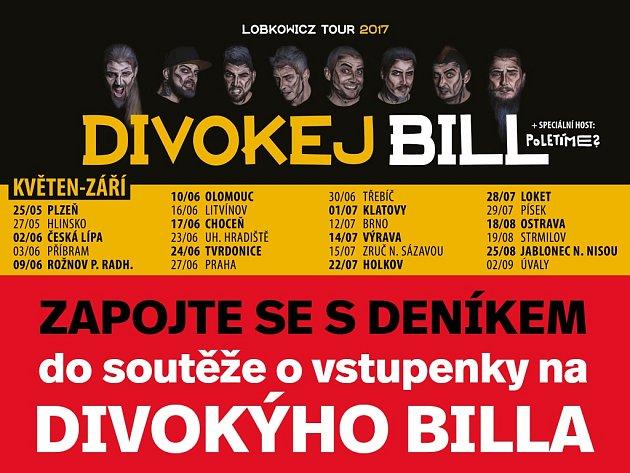 Kapela Divokej Bill je momentálně na svém Divokej Bill Lobkowicz tour 2017