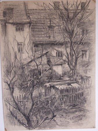 Dům skočkou, jedna zprací malíře Františka Romana Dragouna.