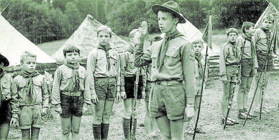 První tábor 4. oddílu Junáka České Budějovice v roce 1969.