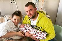 Valerie Čadková ze Štěkně. Dcera Anity Marouškové a Filipa Čadka se narodila 8. 5. 2021 v 11.28 h. Její porodní váha byla 3,65 kg. Foto: Jana Krupauerová
