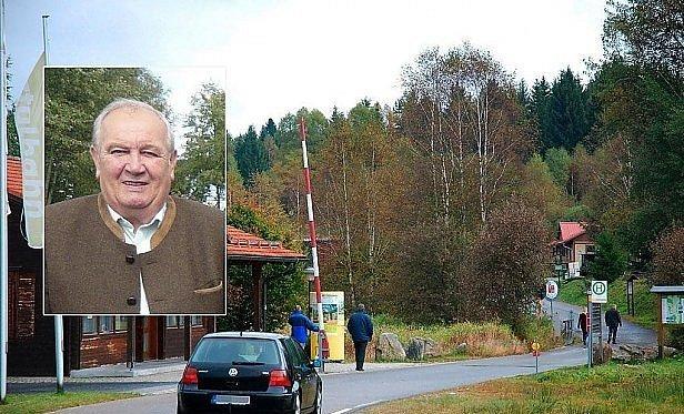 Závora v Haidmühle a její starosta.