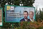 Předvolební billboard KDU-ČSL a TOP 09. Známka odborníka na marketing: 1-.
