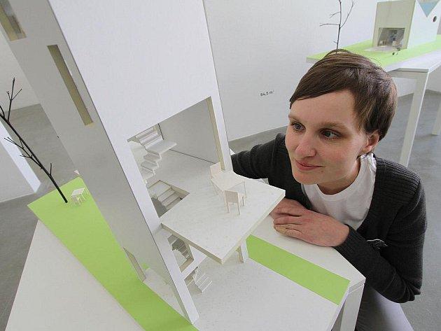 Výstava Milý malý Dům začala v českobudějovickém Domě umění, na snímku Lenka Křemenová.