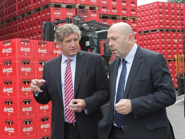 Izraelský velvyslanec Gary Koren navštívil Budějovický Budvar.