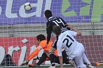 František Němec střílí v Příbrami svůj první ligový gól.