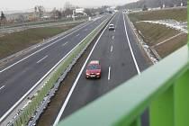Úsek Nová hospoda - Písek, kde se maximální povolená rychlost zvýší na 110 km/h.