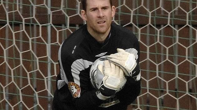 Michal Špit v nedělní lize na Dynamu udržel čisté konto.