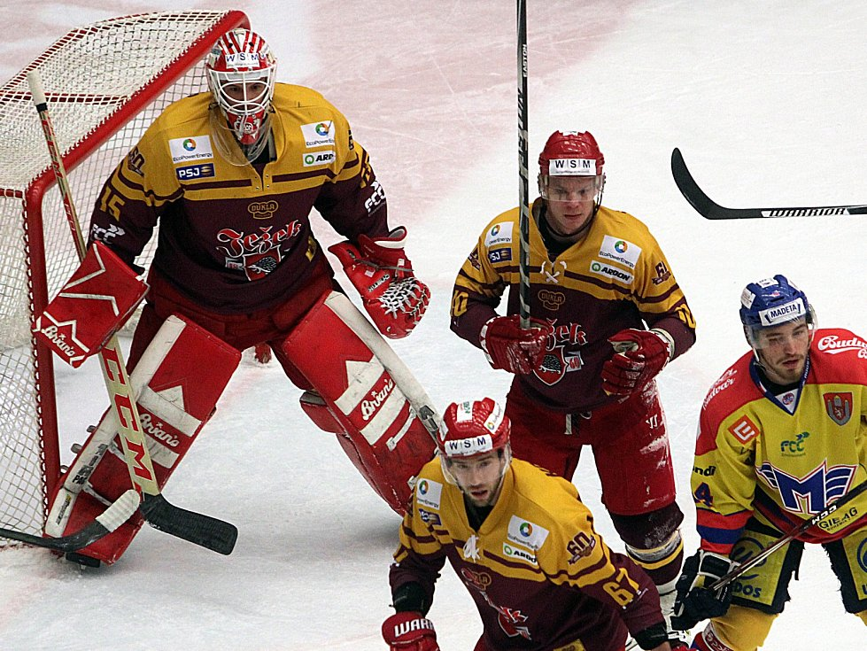 Hokejová baráž pokračovala zápasem Motor České Budějovice-Dukla Jihlava.
