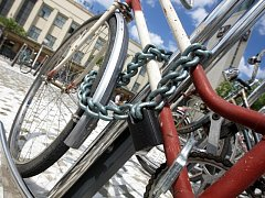 Krádež jízdního kola. Ilustrační foto.