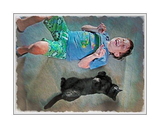 Zdeněk Zajíček vydal knihu Příběhy zKočičína, pro děti a všechny milovníky koček. Na snímku jedna zilustrací.