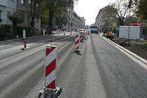 Rekonstrukce silnice v Českých Budějovicích.