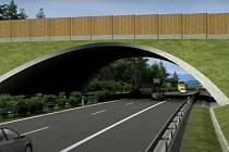 Most převede dálnici D3 přes řeku Malši mezi Roudným a Vidovem.