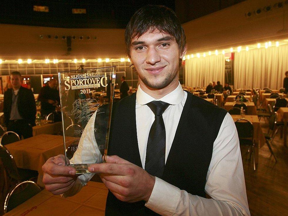 Vyhlášení ankety Sportovec roku 2011 v českobudějovickém domu kultury Metropol. Vítěz  Jakub Kovář (hokej, HC Mountfield ČB) - 153 bodů.