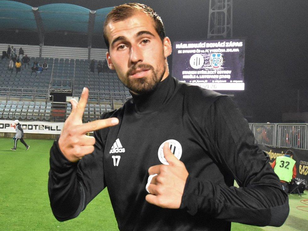David Ledecký dal v zápase Dynama s Hradcem (3:1) všechny tři góly vítězů.