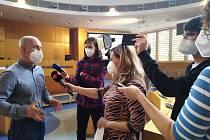 Jihočeský hejtman Martin Kuba (ODS) na tiskové konferenci ke Krajskému investičnímu fondu.