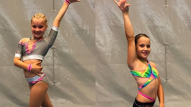 Podzim odstartovaly závodnice ve velkém stylu. Byly ve finále. Na snímku zleva finalistky Natálie Hrabčáková a Johanka Fišerová.
