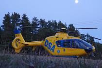U nehody zasahovala také letecká záchranná služba.