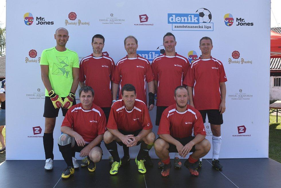 Prvního ročníku Zaměstnanecké ligy Deníku se v úterý účastnil tým společnosti ČEVAK.
