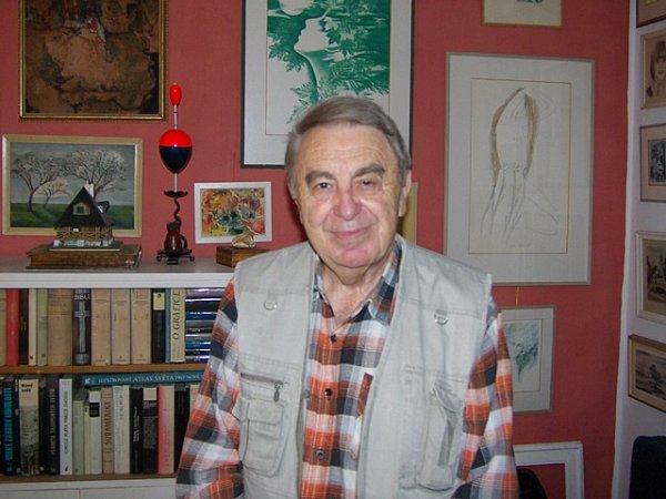 Herec a režisér divadelního spolku Vltavan Jan Humhej, který ve spolku působí už od roku 1948.