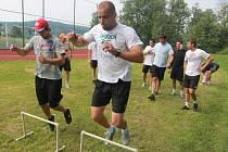 V plném tempu při tréninku na Lipně Jakub Kovář (vlevo) a Pavel Kašpařík.