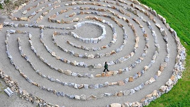 Jeden z labyrintů.