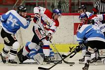 Utkání  1. ligy ledního hokeje mezi HC Motor České Budějovice a BK Mladá Boleslav