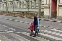 Úsek silnice mezi Lipenskou a Otakarovou ulicí ve směru do centra se tváří jako preferenční pruh pro MHD, ale vlastně to žádný takový pruh oficiálně není.