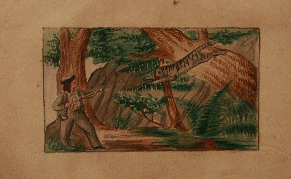 Expozici Osudová dobrodružství Jana a Mikoláše Alše. Představuje mj. asi 30 kreseb Jana Alše, zhruba dvě třetiny jeho dochovaného díla.