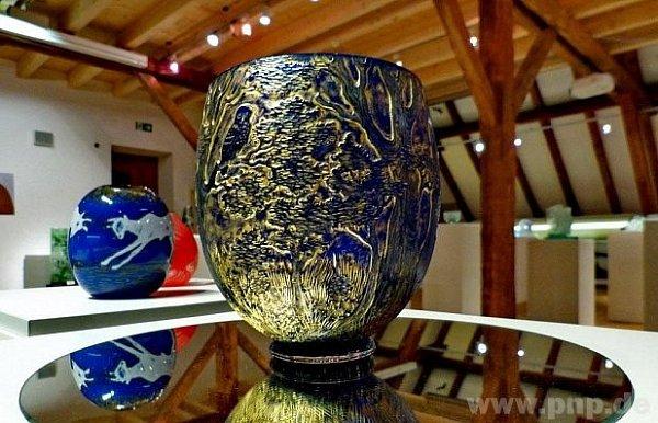 Zvýstavy umění skla ve Zwieselu.