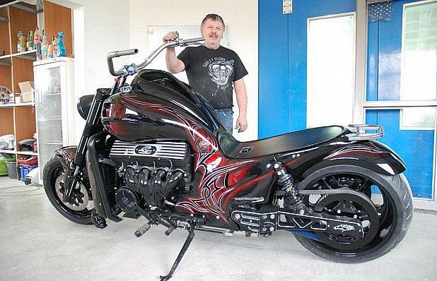 Vytunoval americkou motorčičku.