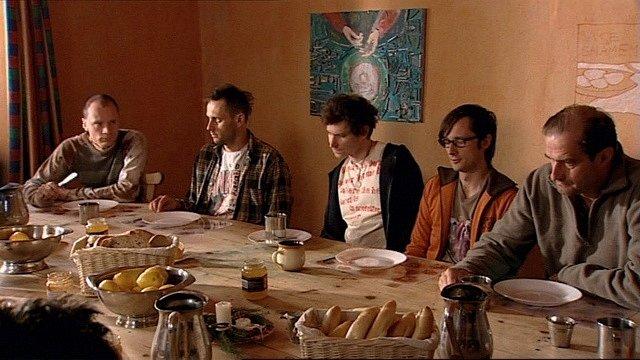 na snídani Jan Budař, Igor Chmela, David Novotný, Jaroslav Plesl a Jaromír Dulava.