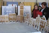 Rekordní dort měří 3,2 krát 3,2 metru a je lemován domy z perníku.